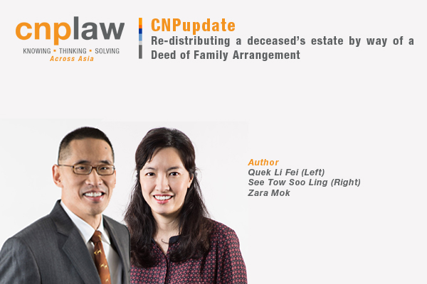 Re-distributing a deceased's estate by way of a Deed of Family Arrangement