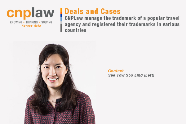 CNPLaw manage the trademark of a popular travel agency and registered their trademarks in various countries