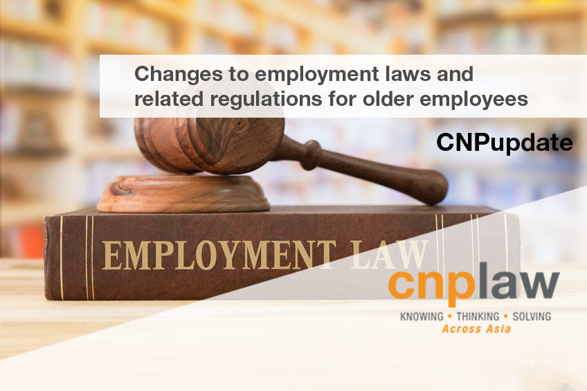 An article about the changes to employment laws and related regulations for older employees by CNPLaw LLP (image)