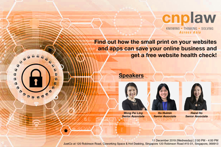 Join us for a talk to Find out how the small print on your websites and apps can save your online business