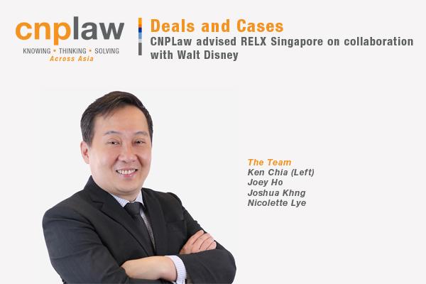 CNPLaw advised RELX Singapore on collaboration with Walt Disney