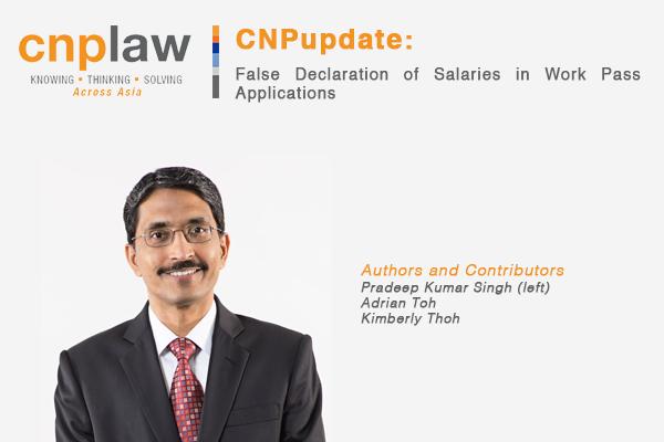 False Declaration of Salaries in Work Pass Applications