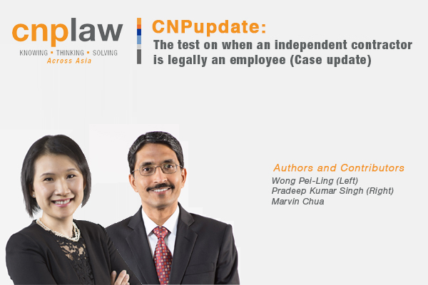 The test on when an independent contractor is legally an employee (Case update)