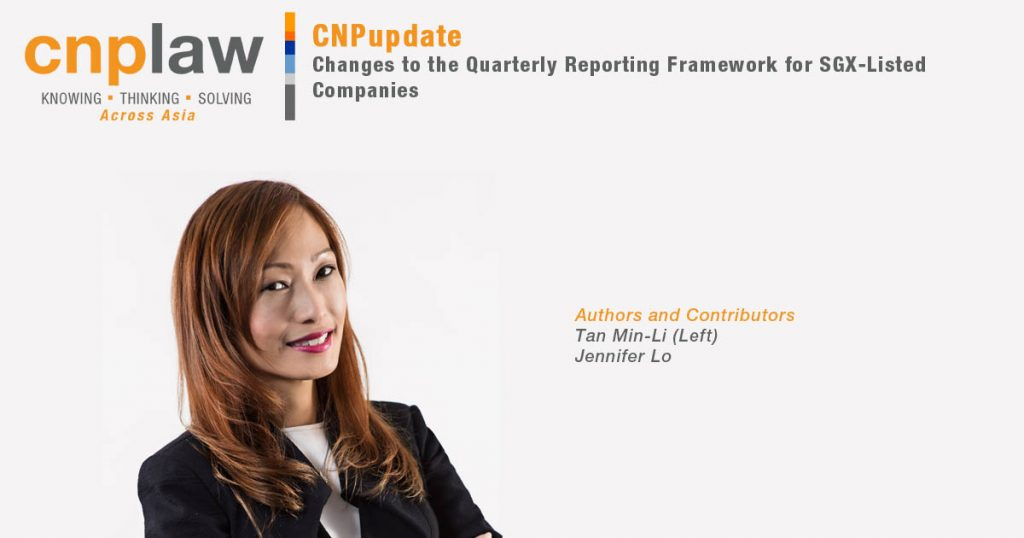 Changes to the Quarterly Reporting Framework for SGX-Listed Companies