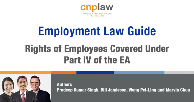 Rights of Employees Covered Under Part IV of the EA