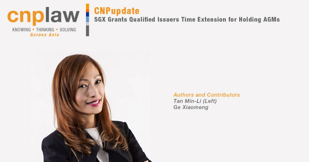 SGX Grants Qualified Issuers Time Extension for Holding AGMs