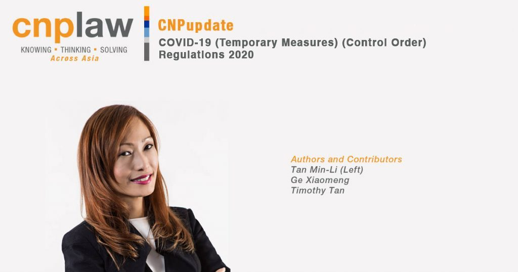 COVID-19 (Temporary Measures) (Control Order) Regulations 2020