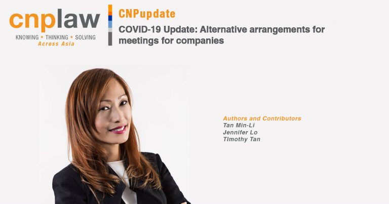 COVID-19 Update- Alternative arrangements for meetings for companies