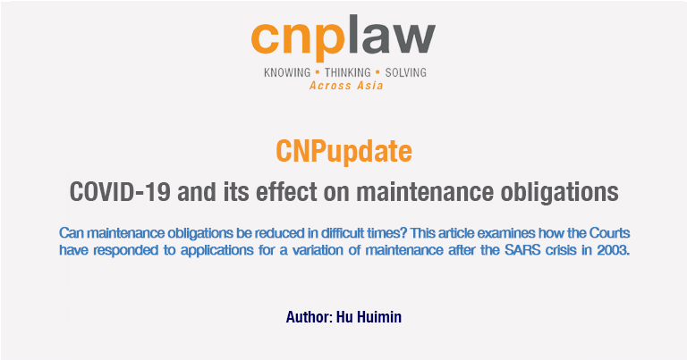 COVID-19 and its effect on maintenance obligations