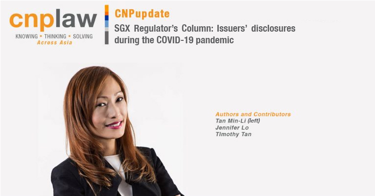SGX Regulator's Column- Issuers' disclosures during the COVID-19 pandemic (1)