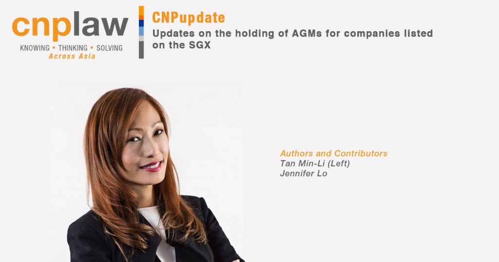 Updates on the holding of AGMs for companies listed on the SGX