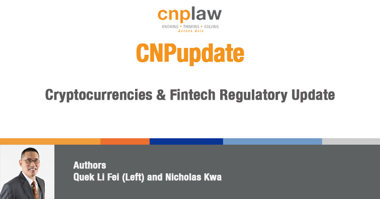 Cryptocurrencies & Fintech Regulatory Update