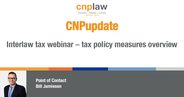 Interlaw tax webinar – tax policy measures overview