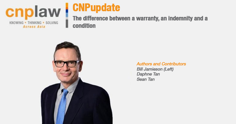 The difference between a warranty, an indemnity, and a condition(1)
