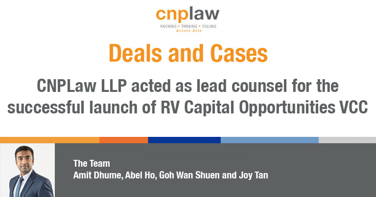 CNPLaw LLP acted as lead counsel for the successful launch of RV Capital Opportunities VCC
