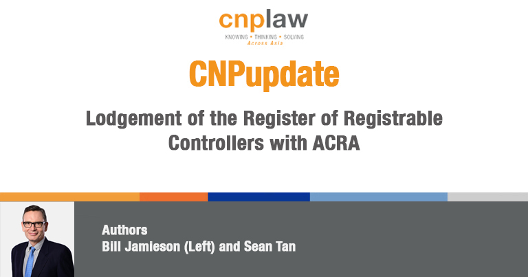 Lodgement of the Register of Registrable Controllers with ACRA