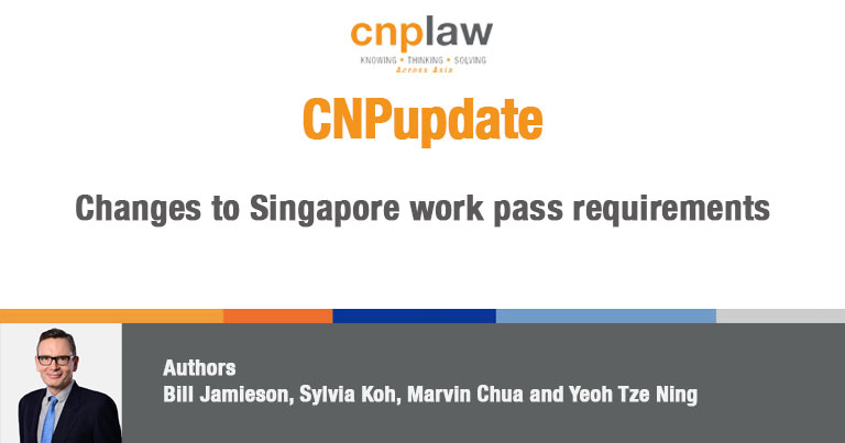 Changes to Singapore work pass requirements