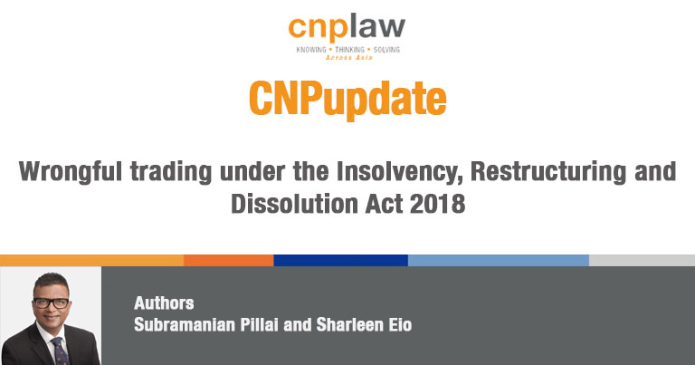 Wrongful trading under the Insolvency, Restructuring and Dissolution Act 2018