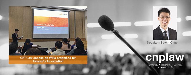 CNPLaw speaks on Wills organised by PA