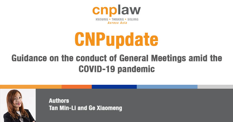 Guidance on the conduct of General Meetings amid the COVID-19 pandemic
