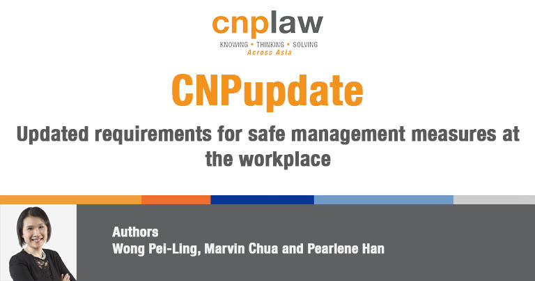 Updated requirements for safe management measures at the workplace