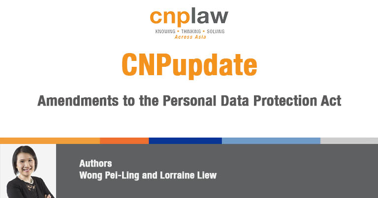 Amendments to the Personal Data Protection Act
