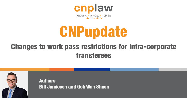 Changes to work pass restrictions for intra-corporate transferees