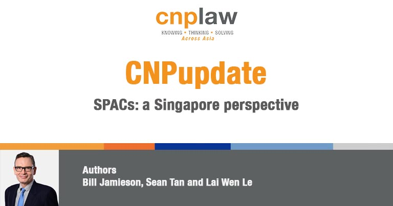 SPACs- a Singapore perspective