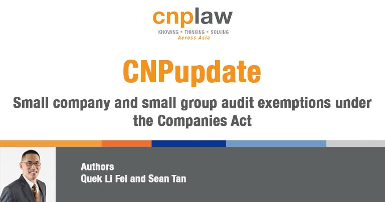 Small company and small group audit exemptions under the Companies Act