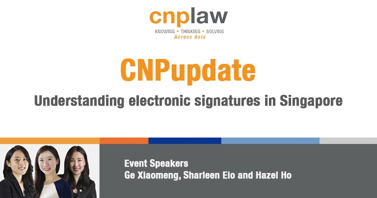 Understanding electronic signatures in Singapore