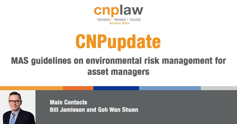 MAS guidelines on environmental risk management for asset managers
