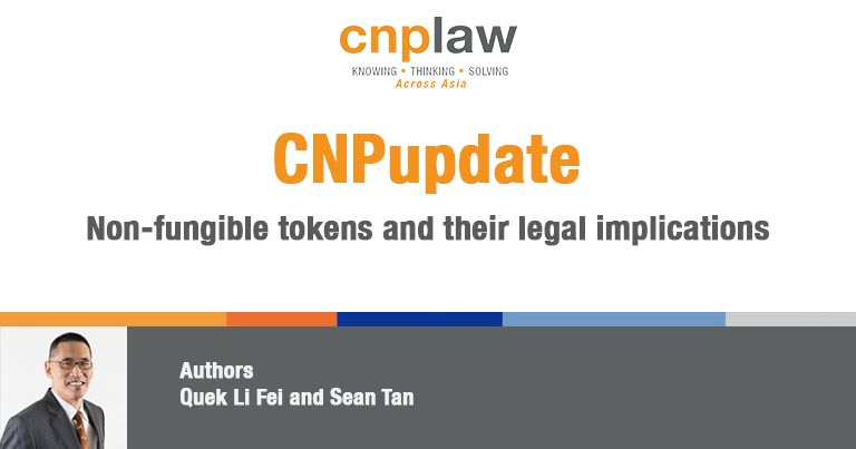 Non-fungible tokens and their legal implications
