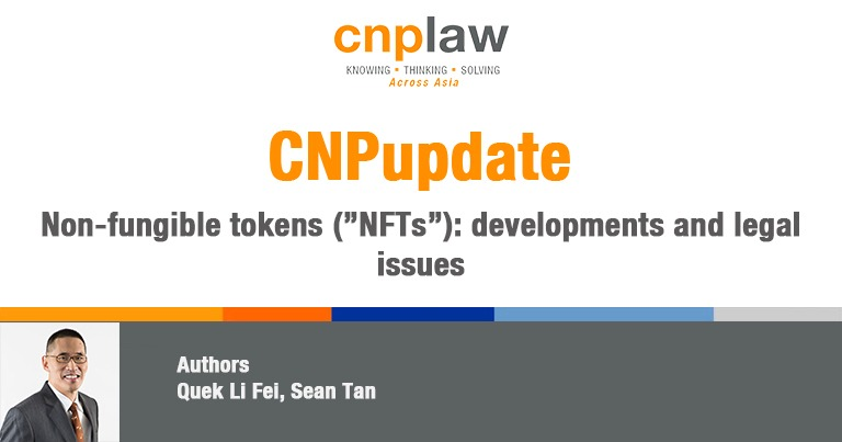 QLF NFT DEVELOPMENTS AND LEGAL ISSUES